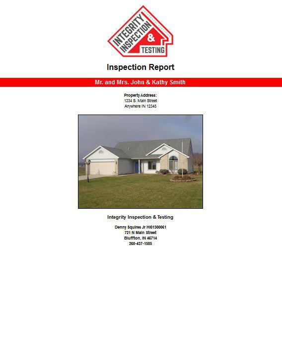 Ft. Wayne Home Inspector Sample Report