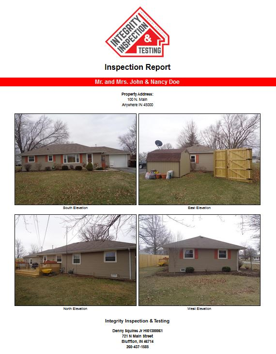 Ft. Wayne Home Inspector Sample Report